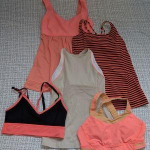 Lululemon lot, five items, size 6
